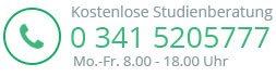 Kostenfreie Studienbetreuung (0) 341 520 57 77 Mo. - Fr. 08.00 - 18.00Uhr