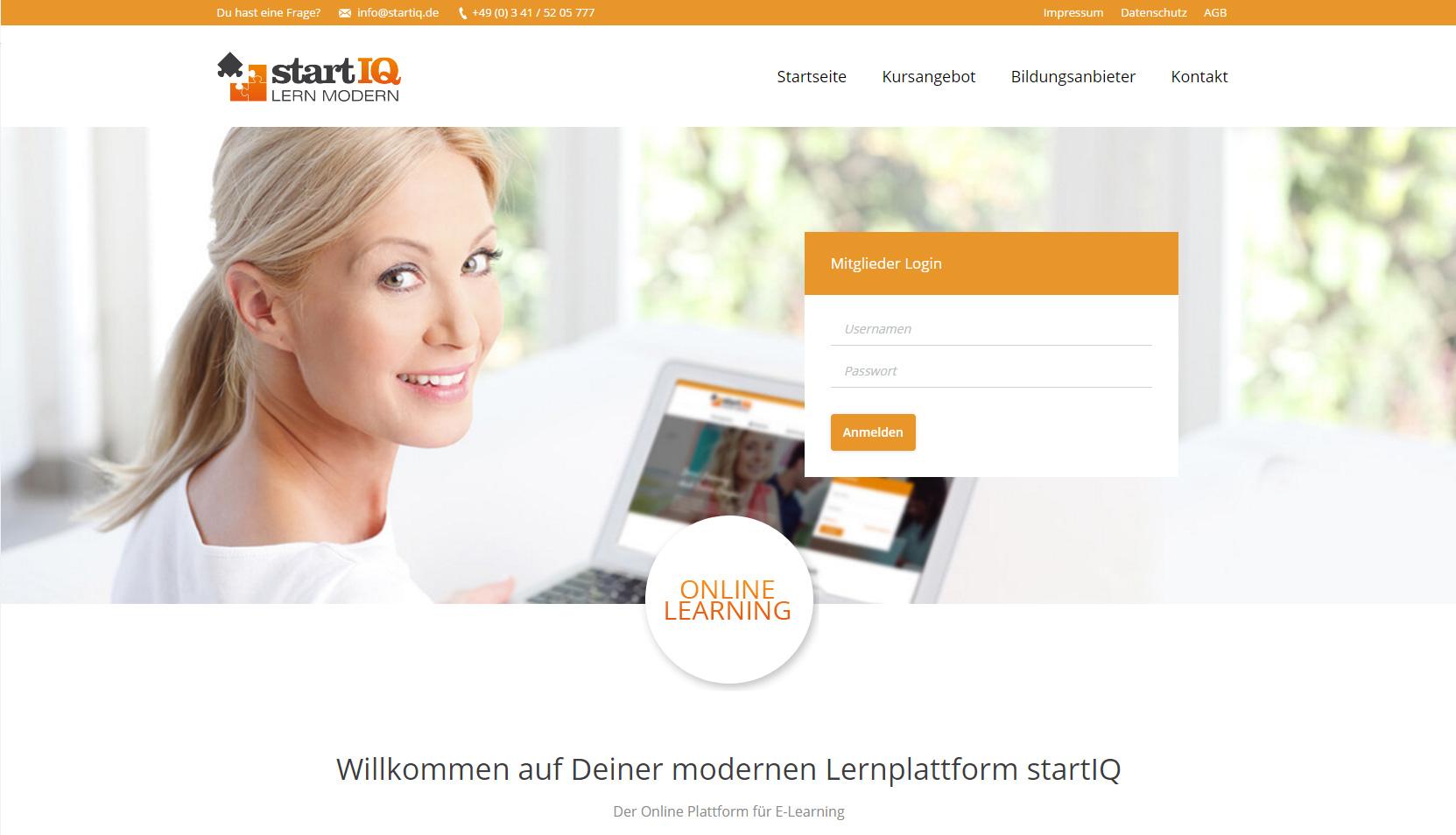Lernunterstützung durch ausgewählte Lernmodule der Lernplattform startIQ
